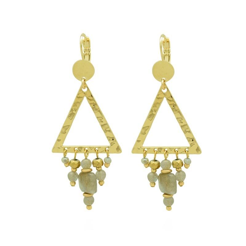 Boucles d'oreilles PALOMBIA Or - Pendants & Décor triangle pampilles