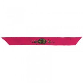 Bracelet à nouer - Ruban de soie rose & bleu pépite