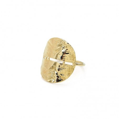 Bague plaqué or Luna - Demies-Lunes bombées