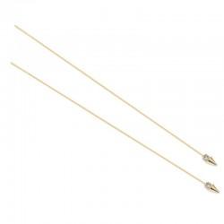 Boucles d'oreilles pendantes Caprice plaqué or - Cristal Swarovski & Cônes