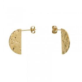 Boucles d'oreilles Luna plaqué or - Demi-Lune design