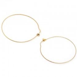 Boucles d'oreilles fines Ode Or - Grande créoles & Anneau design