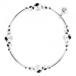 Bracelet élastiqué Argent L'Indispensable - Tubes & Boules