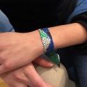 Bracelet à nouer - Ruban de soie multicolor - 2 cm