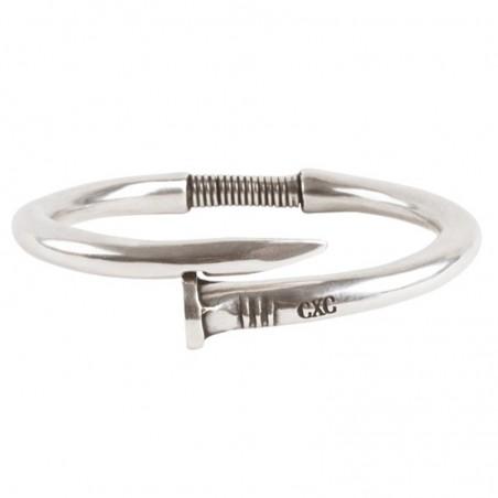 Bracelet Jonc homme et femme Métal & stylisé Clou design