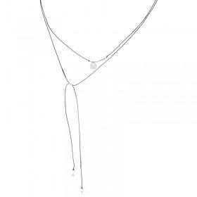Collier Doriane - collier ras de cou Style - Cordon gris & Pastille