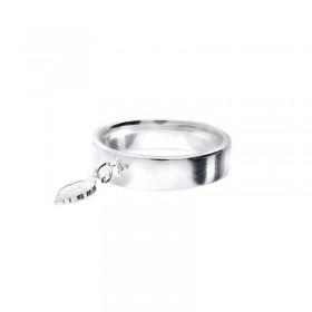 Bague anneau Argent & Petite plume pendante