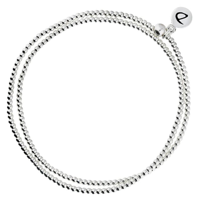 Bracelet Doriane - bracelet élastique multi-tours Mini perles lisses en argent