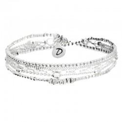 Bracelet multi-tours élastiqué en Argent - Essential Silver
