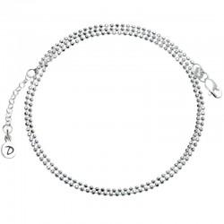 Bracelet multi-tours ajustable - Chaîne fine boule Argent
