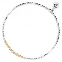 Bracelet élastiqué Silver Flirting - Perles argent & Perles de verre orange