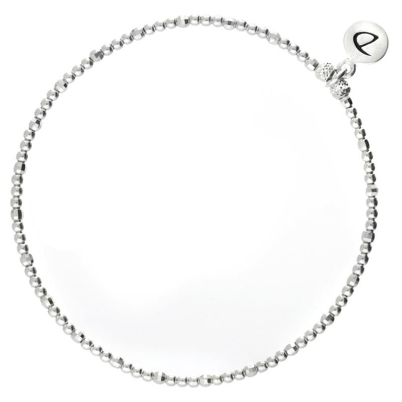 Bracelet Doriane - bracelet élastique en argent PEARL - Enfilade de perles facettées