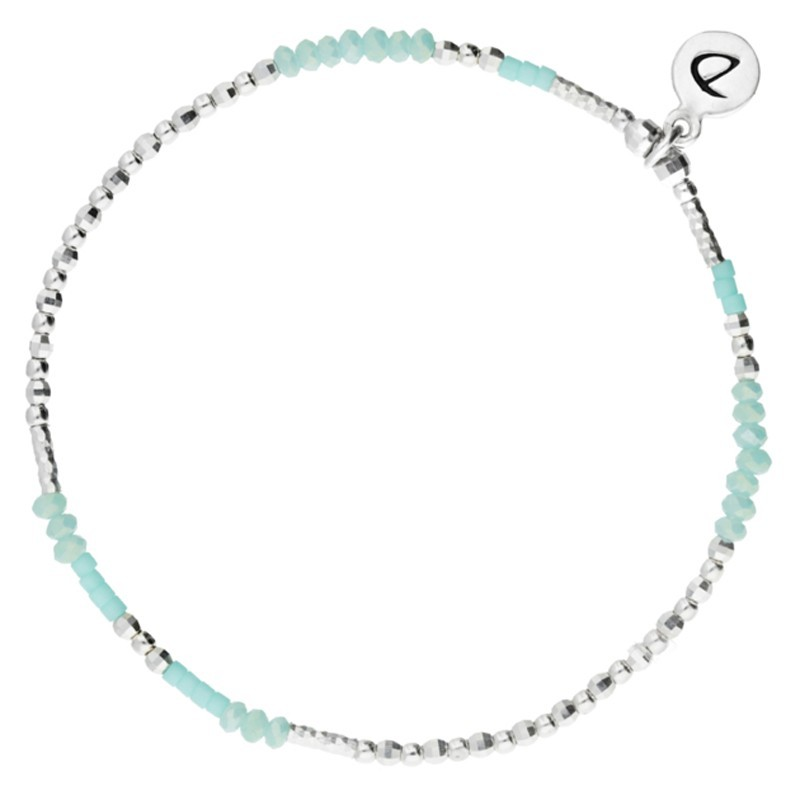 Bracelet Doriane - bracelet élastique Imagin' -  Perles argent & Perles turquoises