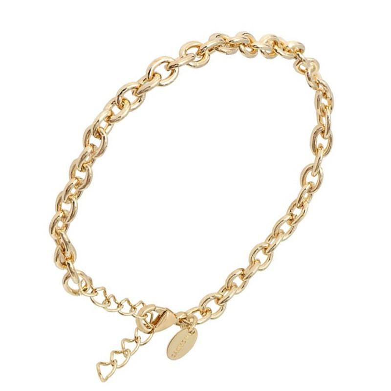 Bracelet Chaîne en laiton doré - Gourmette maillons ronds