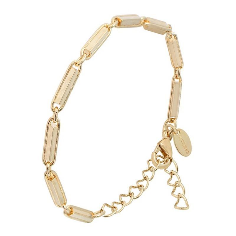 Bracelet Canyon - Bracelet Chaîne en laiton doré - Gourmette maillons allongés