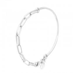Bracelet Demi-jonc & Chaîne maillons en argent