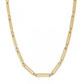 Collier Canyon - Collier long chaîne en laiton doré - Maillons designs