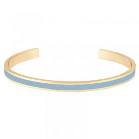 Bracelet BANGLE UP - jonc fin ouvert Bangle Bao en laiton doré d'émail bleu ciel