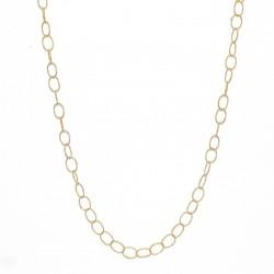 LuckyTeam - Collier chaîne doré stylisé de maillons fins ovales & torsadés