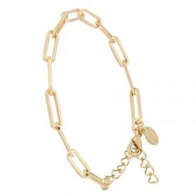 Bracelet fin Laiton doré - Chaîne maillons forçats espacés grand modèle