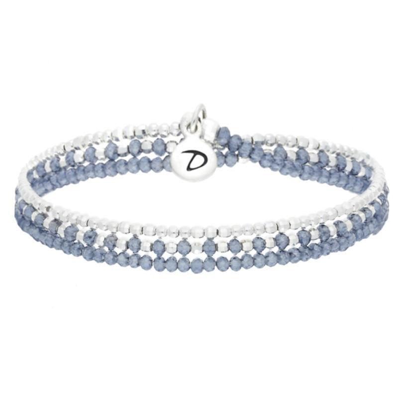 Bracelet Doriane - bracelet multi tours Heaven argent - Perles bleues