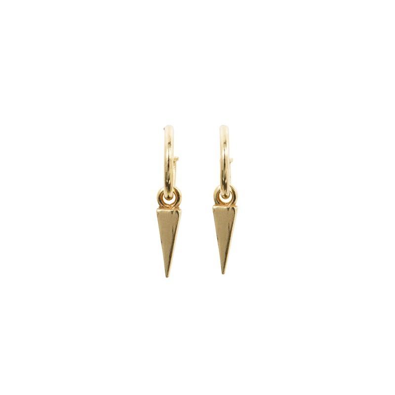 Boucles d'oreilles mini créoles dorées - Pointe lisse