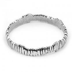 Bracelet  Jonc métal BARDANA - Décors striés designs - CICLON -