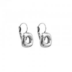Boucles d'oreilles dormeuses métal ENCUADRADOS & Carré design