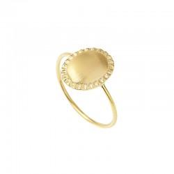 Bague fine or matte Bysance & Décor brossé ovale design - Louise Hendricks