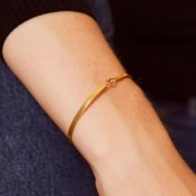 Bracelet Jonc fermé fin Lily - Or light - Fermoir crochet