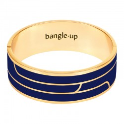 Bracelet BANGLE UP - jonc manchette Gaya - Doré & Email bleu nuit