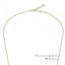 Fermoir anneau ressort et chaîne de rallonge de 4 cm