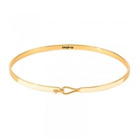 Bracelet BANGLE UP - Jonc fermé fin Lily - Blanc sable - Fermoir crochet