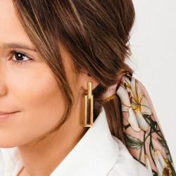 Boucles d'oreilles pendantes dorées - Maillons marins designs