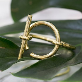 Bracelet Jonc Or - Grande Boucle marine Design