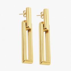 Boucles d'oreilles pendantes dorées CXC - Maillons marins designs