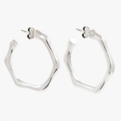 Boucles d'oreilles créoles tout métal CXC - Anneaux saccadés designs