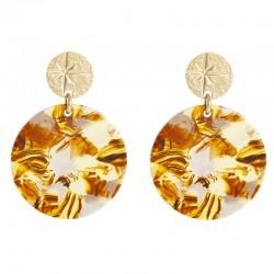 Boucles d'oreilles Or Etoile LOVELY DAY - Pendants & Médaille ronde Acétate écailles