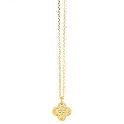 Lovely Day Bijoux - Collier choker chaîne fine Or - Pendentif Trèfle design