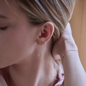 Boucles d'oreilles piercing ajustable - Bdm Studio