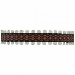 Bracelet homme cordon PIN - Liens marron noir & Perles argent - LeJu London