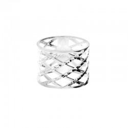 DORIANE BIJOUX - Bague large losanges en argent ciselé effet diamanté - Lullaby