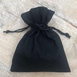Bracelet jonc multi tours Mixte - Métal & cuir noir bleu ciel TAILLE S