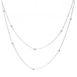Collier Doriane - collier sautoir Argent - Chaîne mini-boules 95 cm