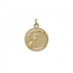 Pendentif médaille Or frappée Pièce de monnaie figurine & Bélière CANYON