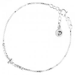 Bracelet chaîne ajustable en Argent - Chaîne Princesse & Croix DORIANE BIJOUX