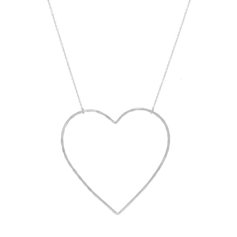 Collier Sautoir Argent LuckyTeam - Chaîne & Pendentif Coeur
