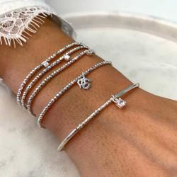 Elégante composition de bracelets signés DORIANE Bijoux