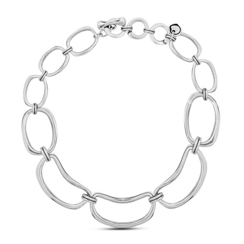 CICLON - Collier court métal ESCALA - Chaîne & Anneaux ovales designs
