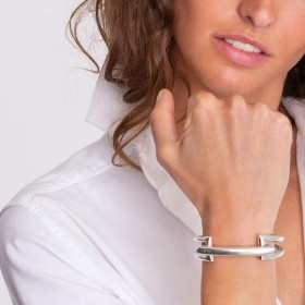 Bracelet Jonc PONT porté - Métal & Décor Pont design CXC